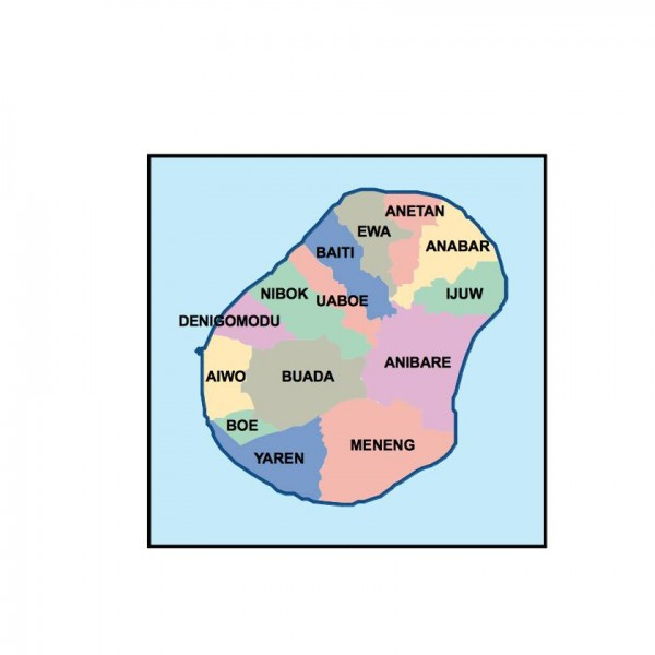 nauru powerpoint map
