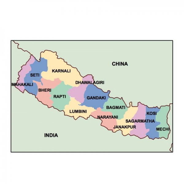 nepal powerpoint map