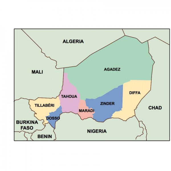 niger powerpoint map