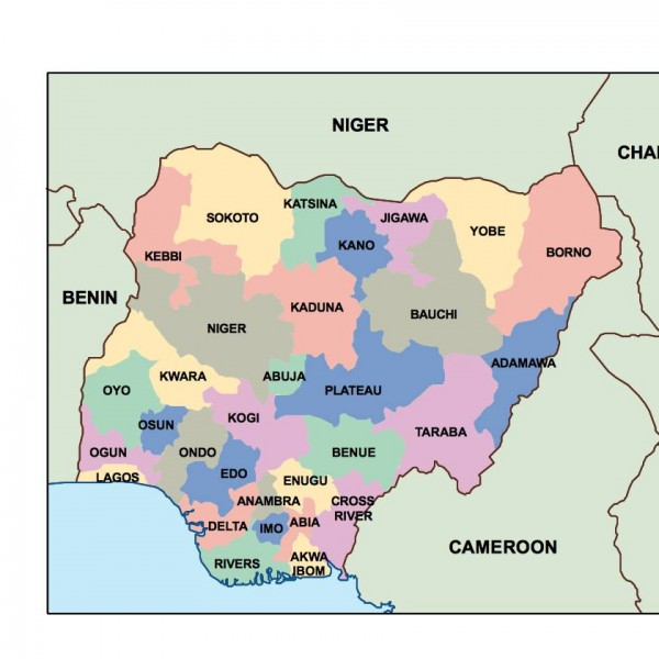 nigeria powerpoint map