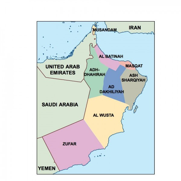 Asia PPT Maps Download Our Asia PPT Maps For Illustrator - Oman map download