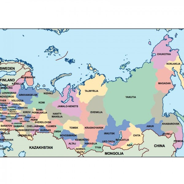 russia powerpoint map