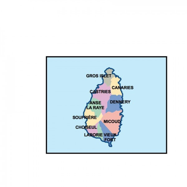 saint lucia powerpoint map