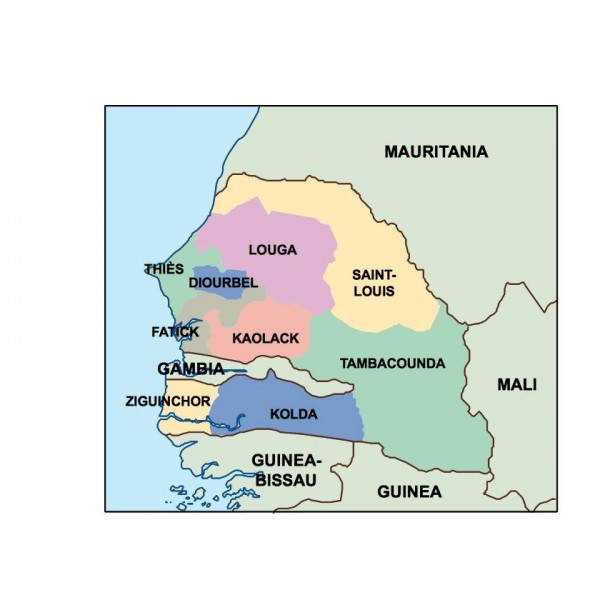senegal powerpoint map