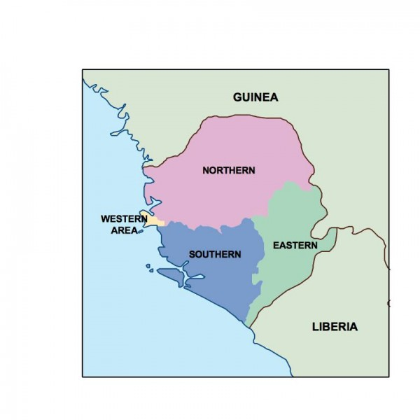 sierra leone powerpoint map
