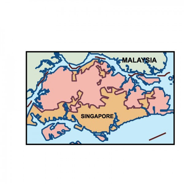 singapore powerpoint map
