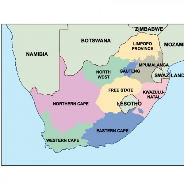 south africa powerpoint map