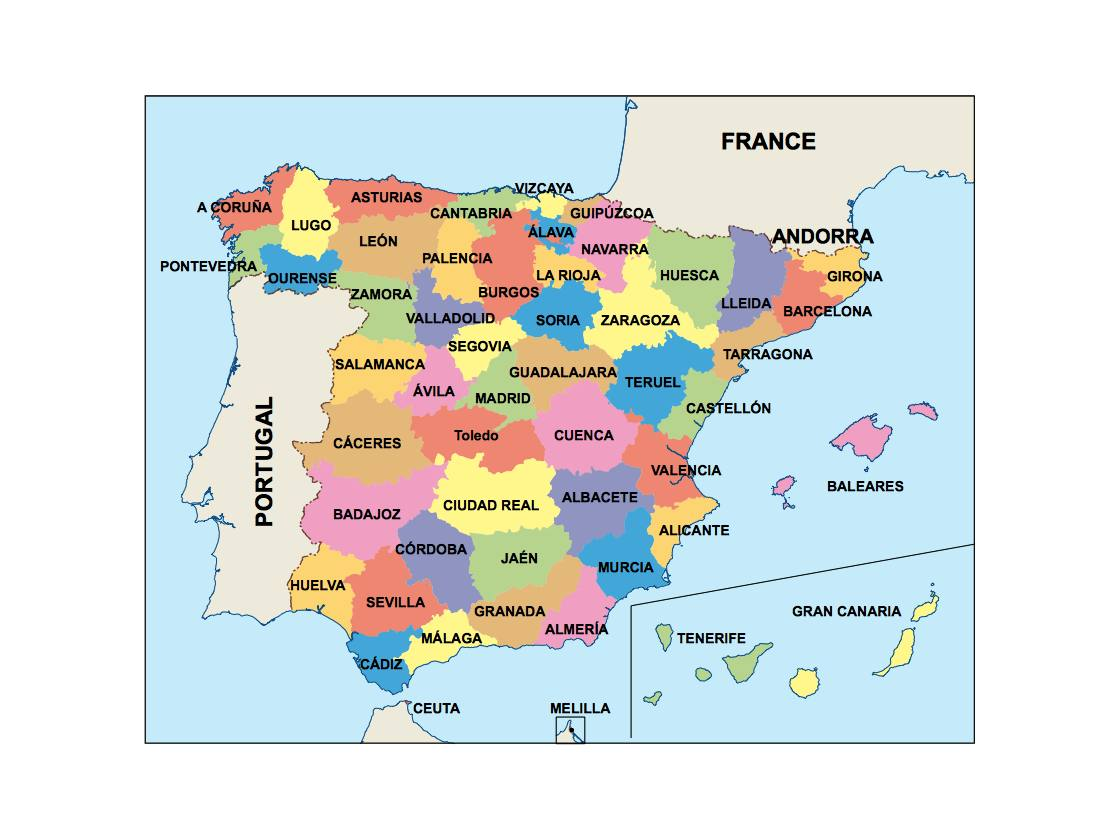 Map Of Spain Navarra.Spain Powerpoint Map