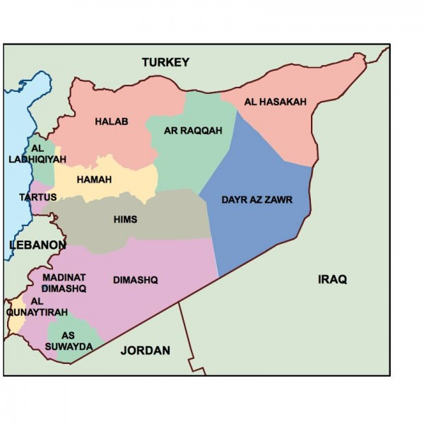 syria powerpoint map