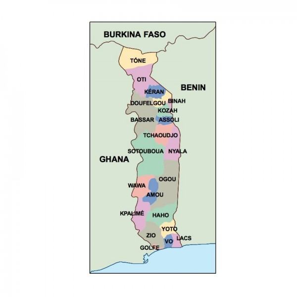 togo powerpoint map