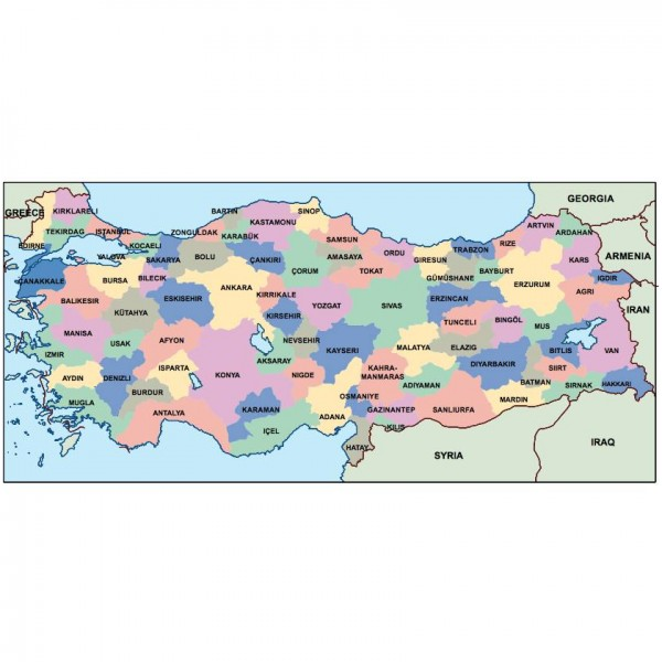 turkey powerpoint map