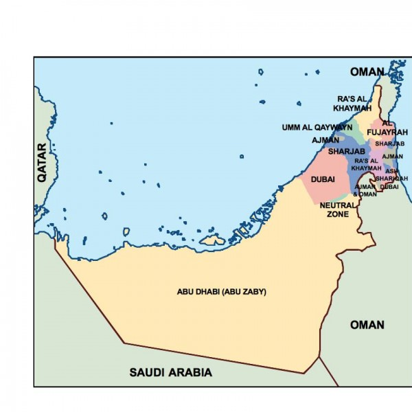 united arab emirates powerpoint map