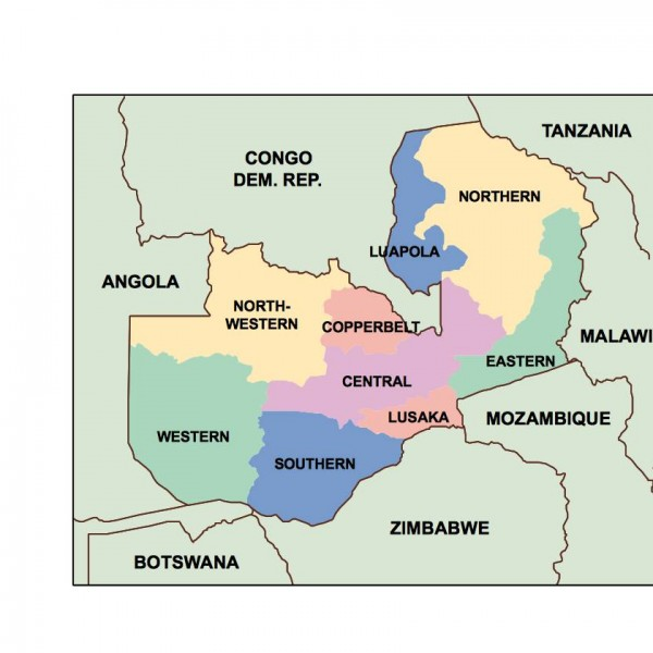 zambia powerpoint map