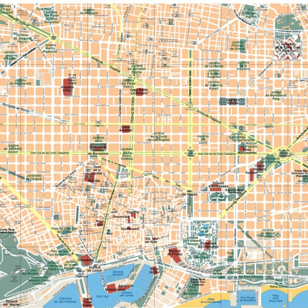 Barcelona Illustrator Map