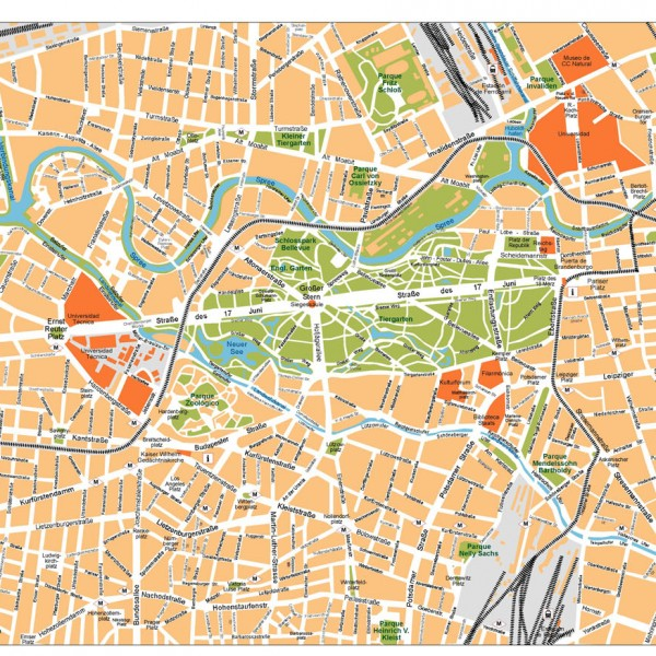Berlin Illustrator Map