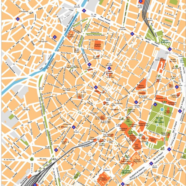Brussels Illustrator Map