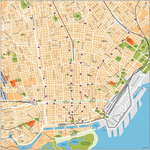 Buenos Aires Illustrator Map