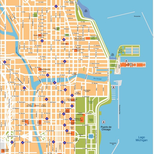 Chicago Illustrator Map