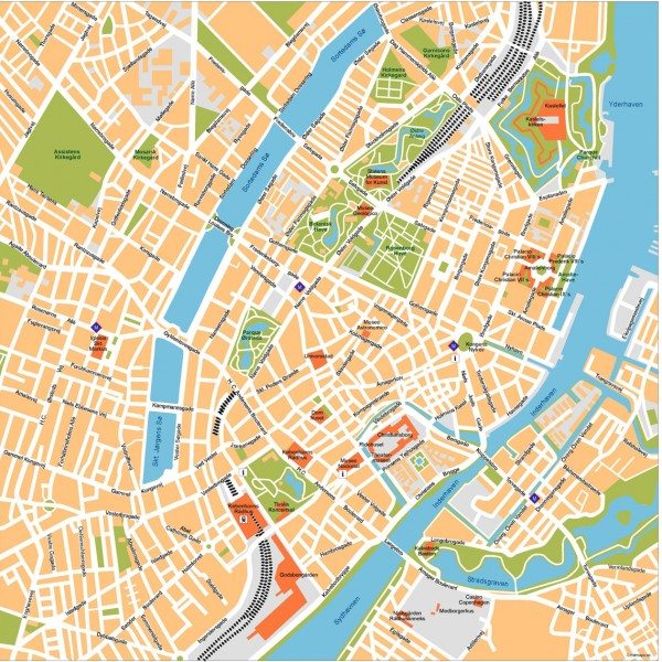 Copenhagen Illustrator Map