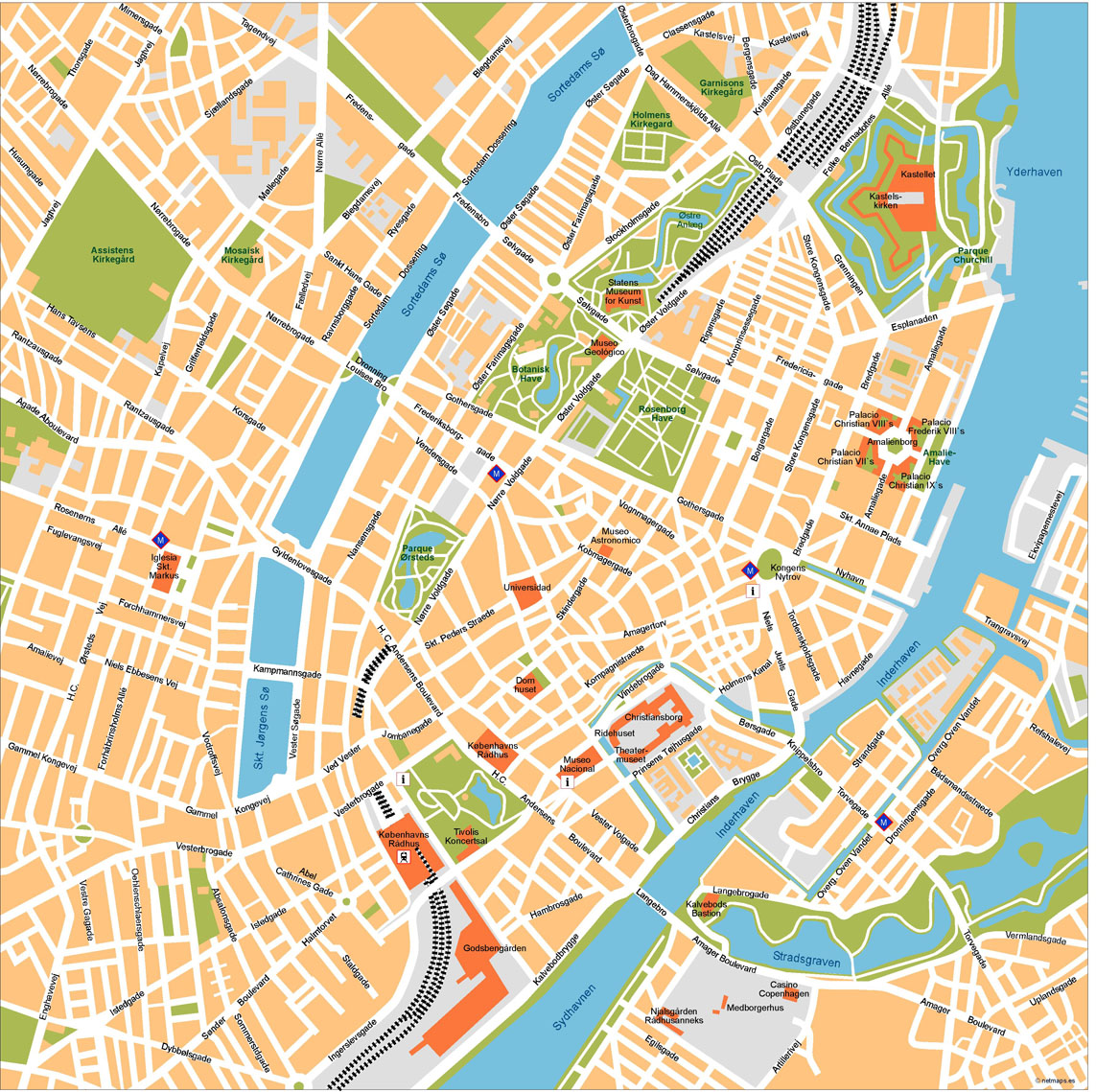 Copenhagen Illustrator Map on internet map, world map, word map, buenos aires map, print map,