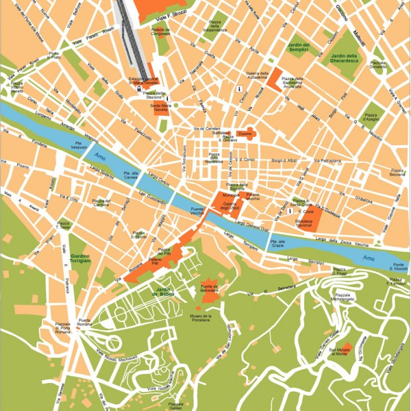 Florence Illustrator Map