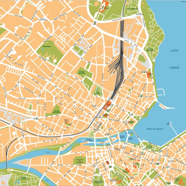 Geneve Illustrator Map