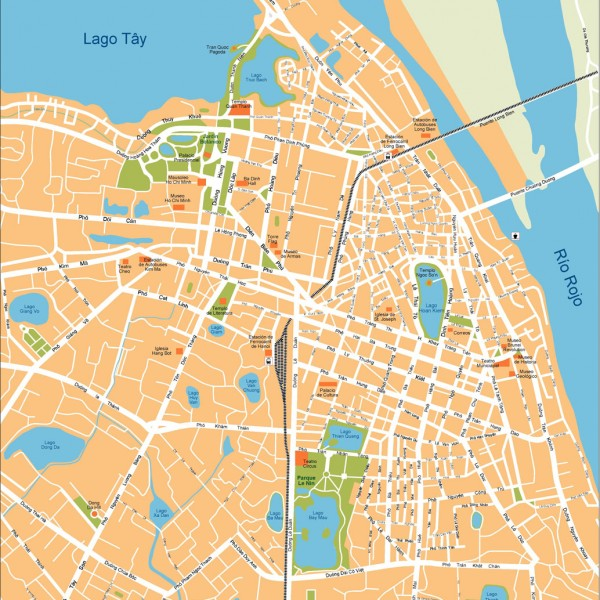 Hanoi Illustrator Map