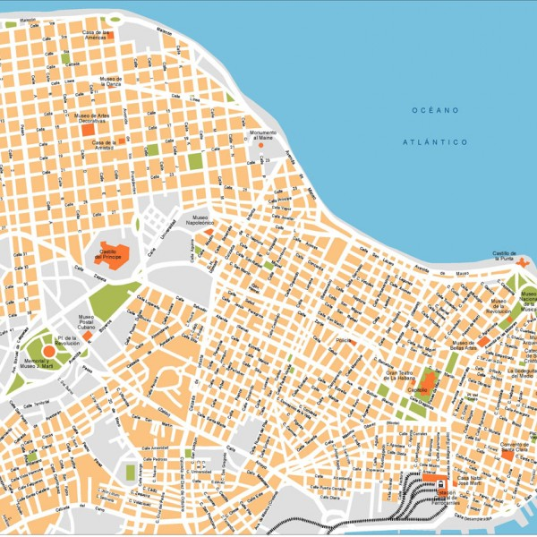 La Habana Illustrator Map