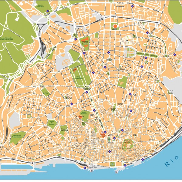 Lisboa Illustrator Map
