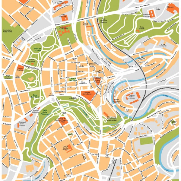 Luxembourg Illustrator Map