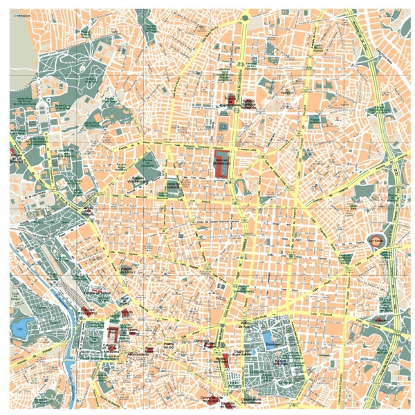 Madrid Illustrator Map