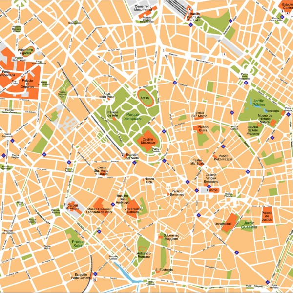 Milano Illustrator Map