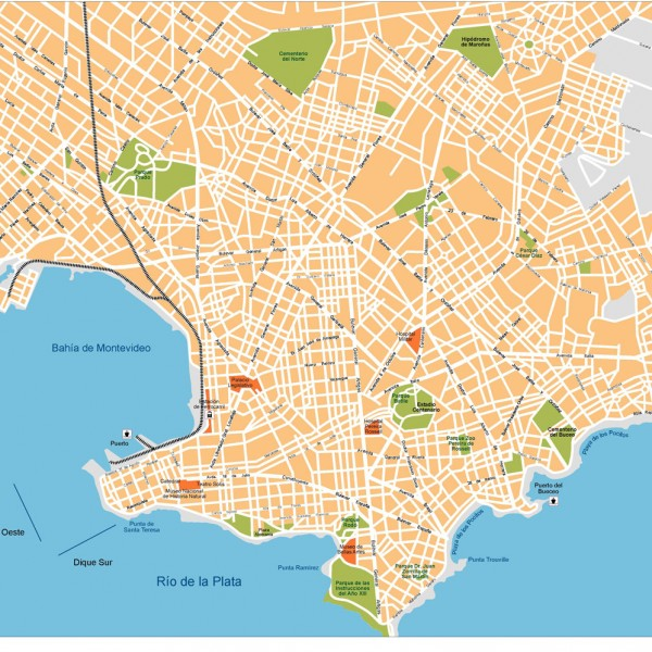 Montevideo Illustrator Map