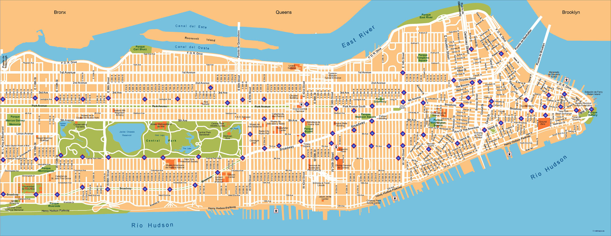 Free Map Of New York City.New York Illustrator Map
