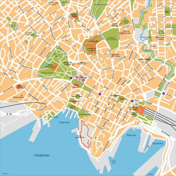 Oslo Illustrator Map