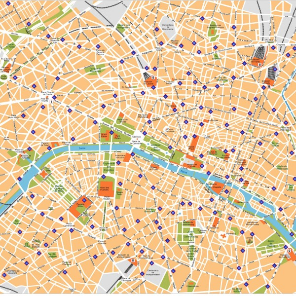 Paris Illustrator Map