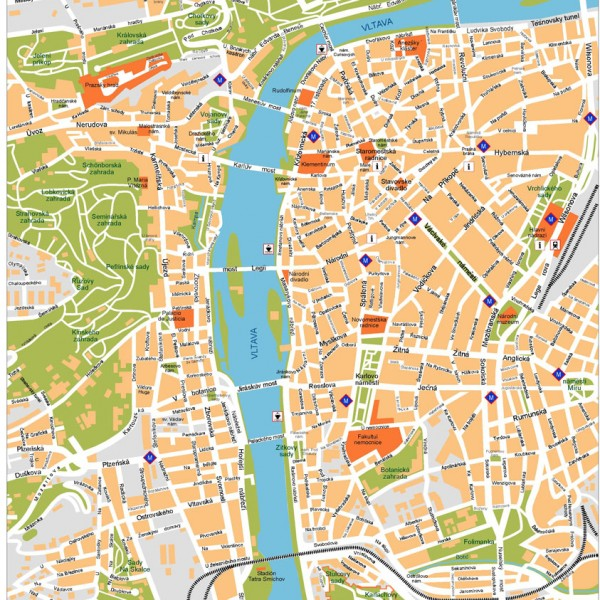 Praga Illustrator Map