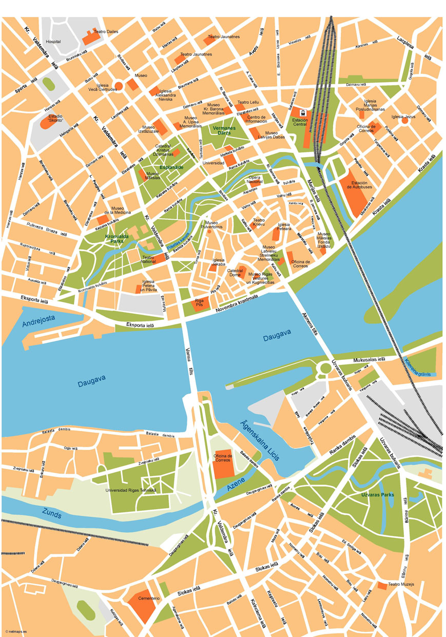 Riga Illustrator Map Order and Download Riga Illustrator Map made