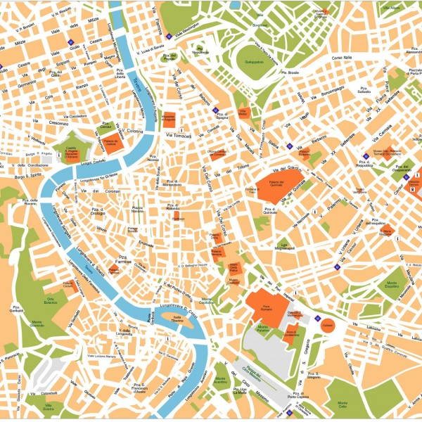 Roma Illustrator Map