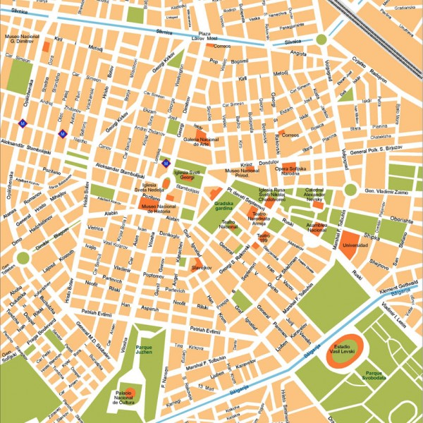 Sofia Illustrator Map