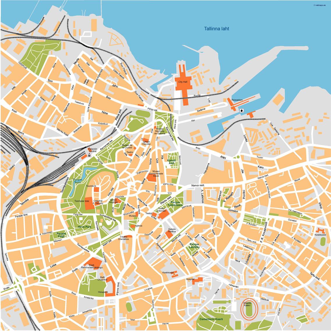 Tallinn Illustrator Map Order and Download Tallinn Illustrator Map