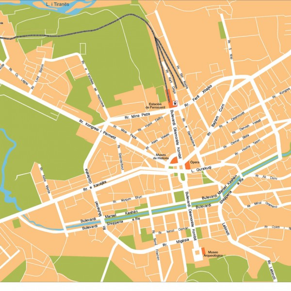 Tirana Illustrator Map