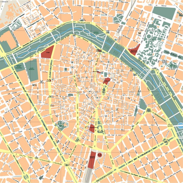 Valencia Illustrator Map
