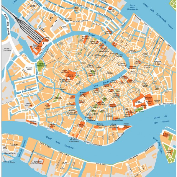 Venice Illustrator Map