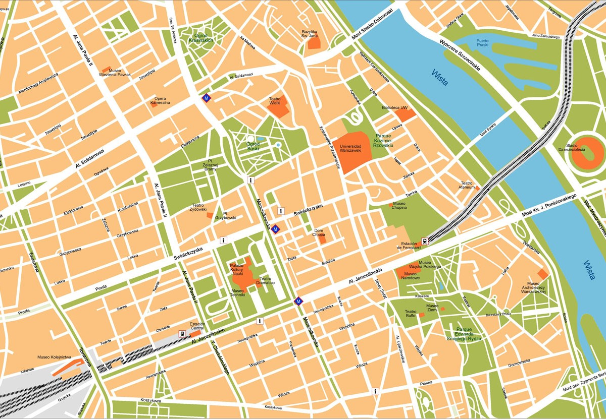 Warsaw Illustrator Map on internet map, world map, word map, buenos aires map, print map,