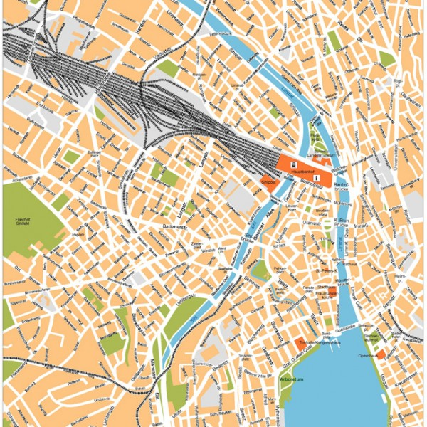 Zurich Illustrator Map