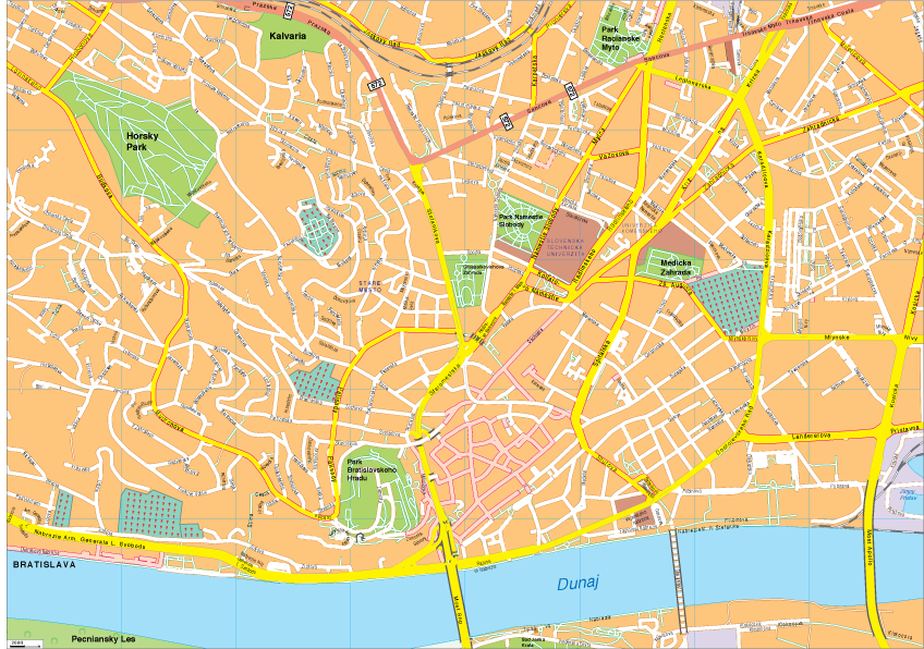 Bratislava Vector EPS Map Order and Download Bratislava Vector EPS