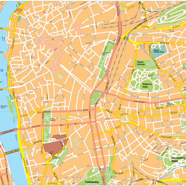 Prague Vector EPS Map