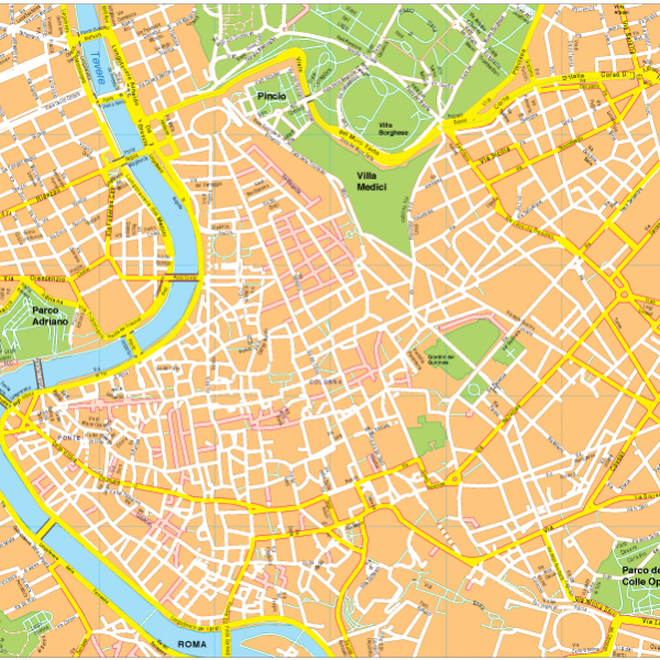 Roma Vector EPS Map