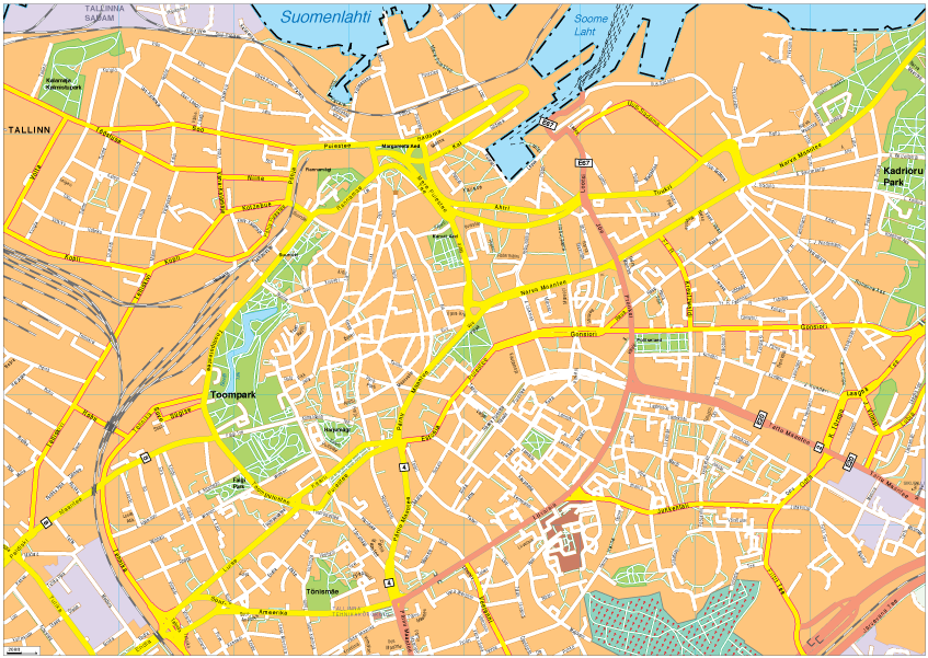 Tallinn Vector EPS Map Order And Download Tallinn Vector EPS Map - Tallinn map